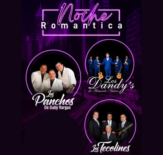 NOCHE ROMÁNTICA LOS PANCHOS, LOS DANDYS Y LOS TECOLINES